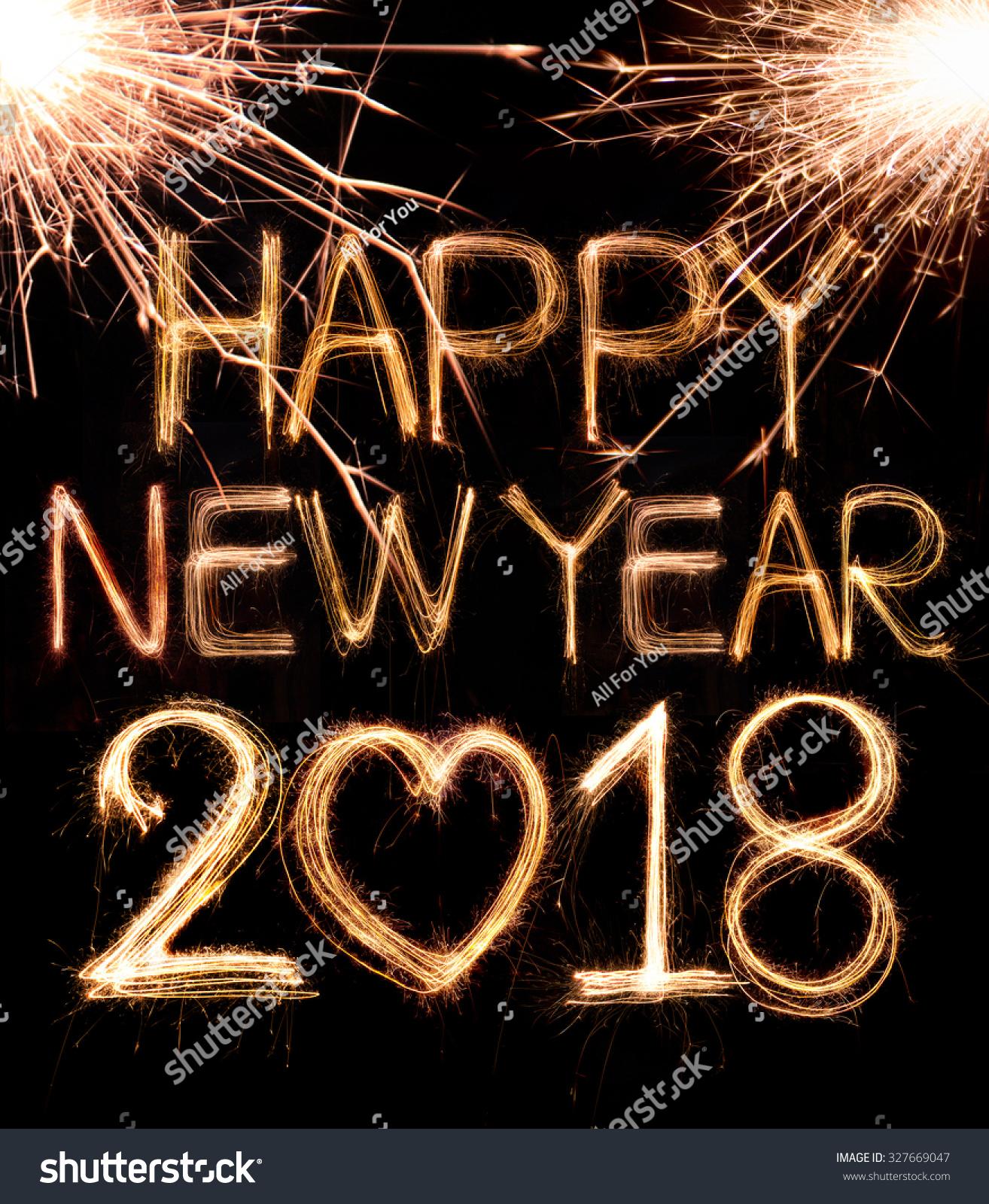 Royalty-free Happy new year 2018 written with… #327669047 Stock Photo  Avopi...