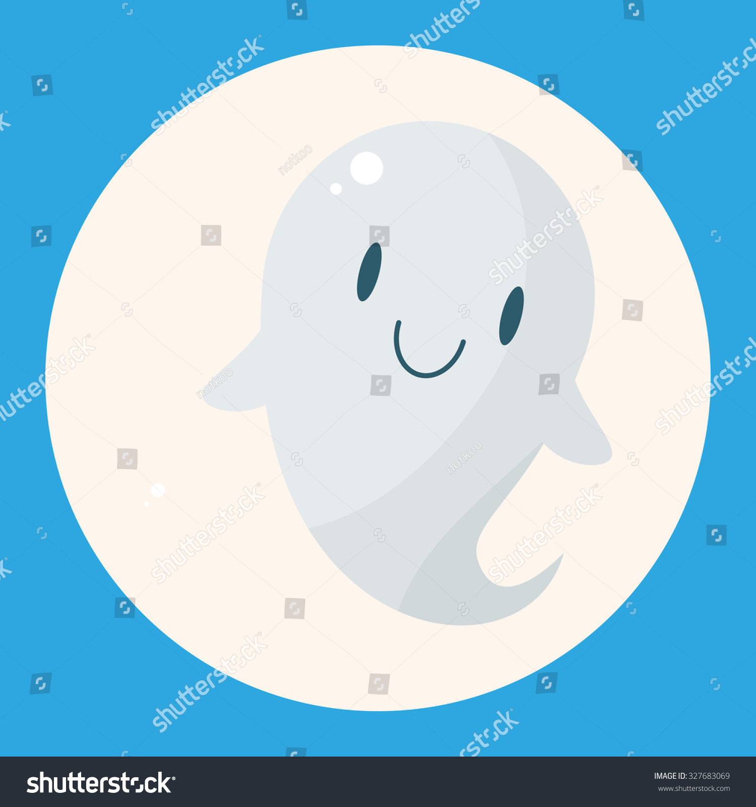 Ghost Theme Elements Stock Vector (Royalty Free) 327683069