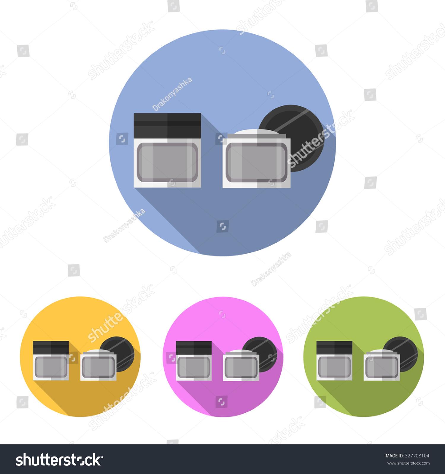 cosmetic cream icon set flat design stock vector 327708104 rh shutterstock com