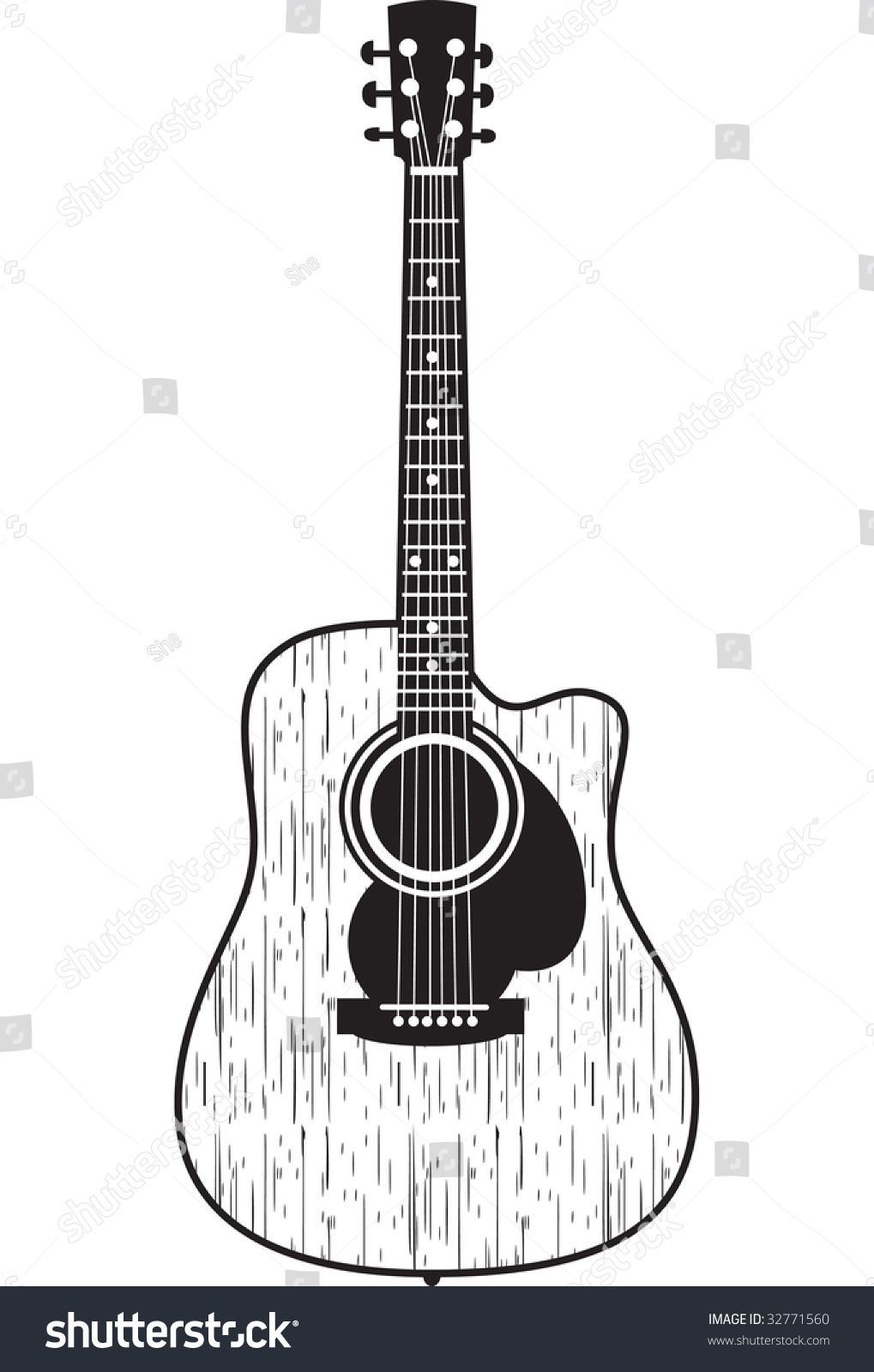 Classic Acoustic Guitar Cool Tshirt Prints Stock Vector ... Classical Music Background Designs