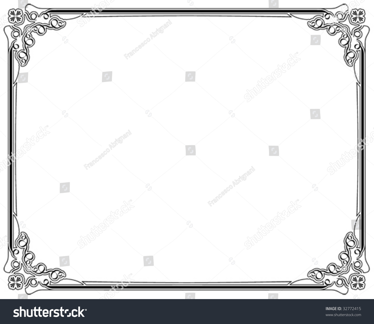 corners borders page decoration stock vector 32772415
