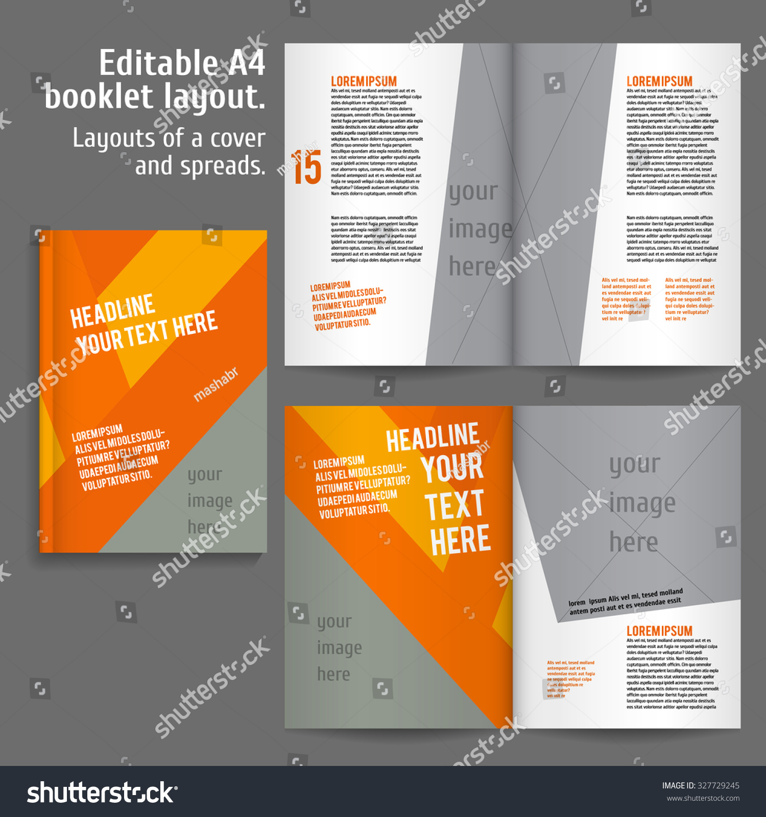A 4 Book Layout Design Template Cover Stock Vector Royalty Free