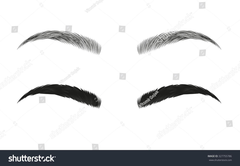 Royalty Free Vector Eyebrows Realistic And Cartoon 327755786