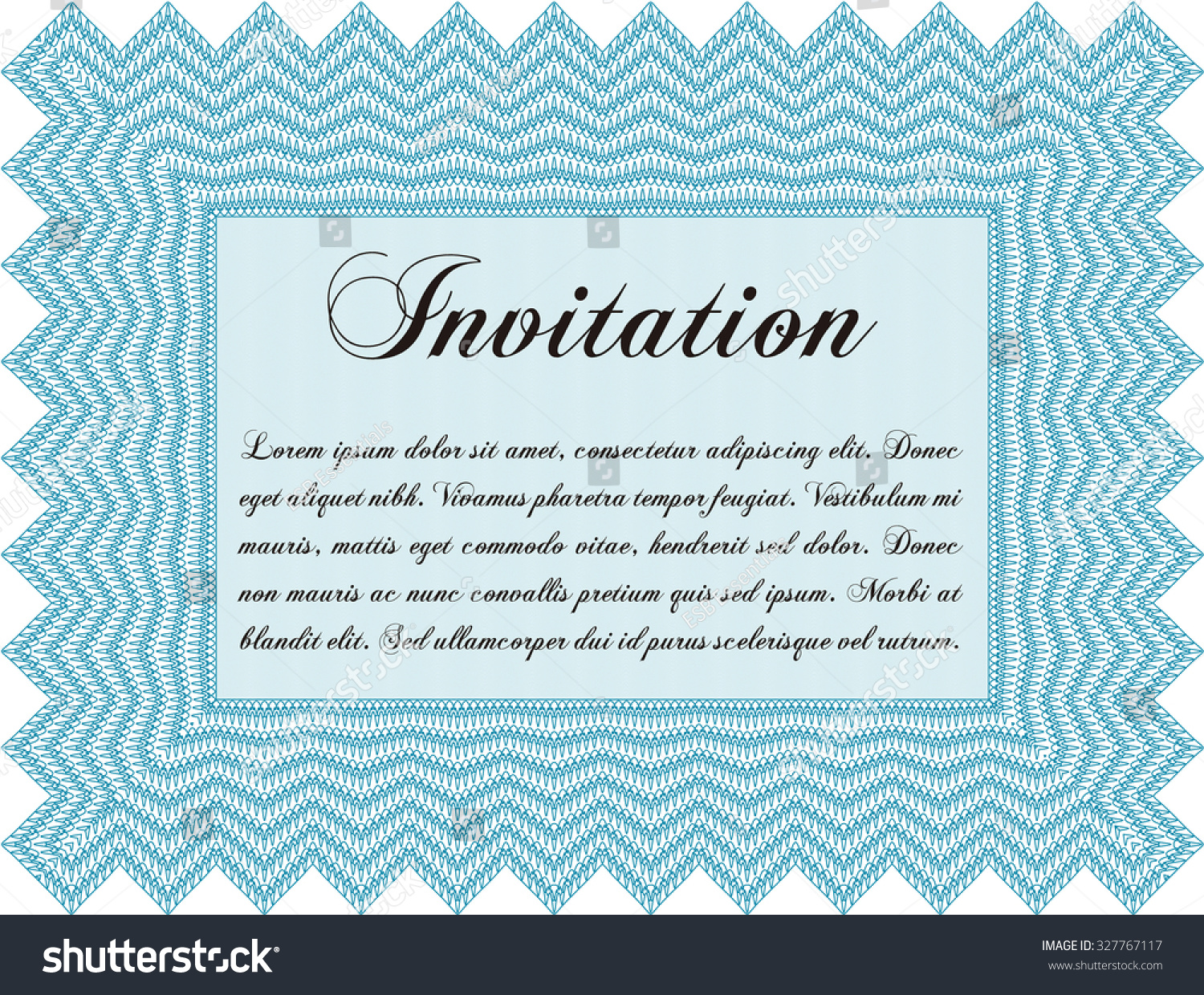Formal invitation template border frame cordial design stock vector formal invitation template border framerdial design with complex linear background stopboris Image collections