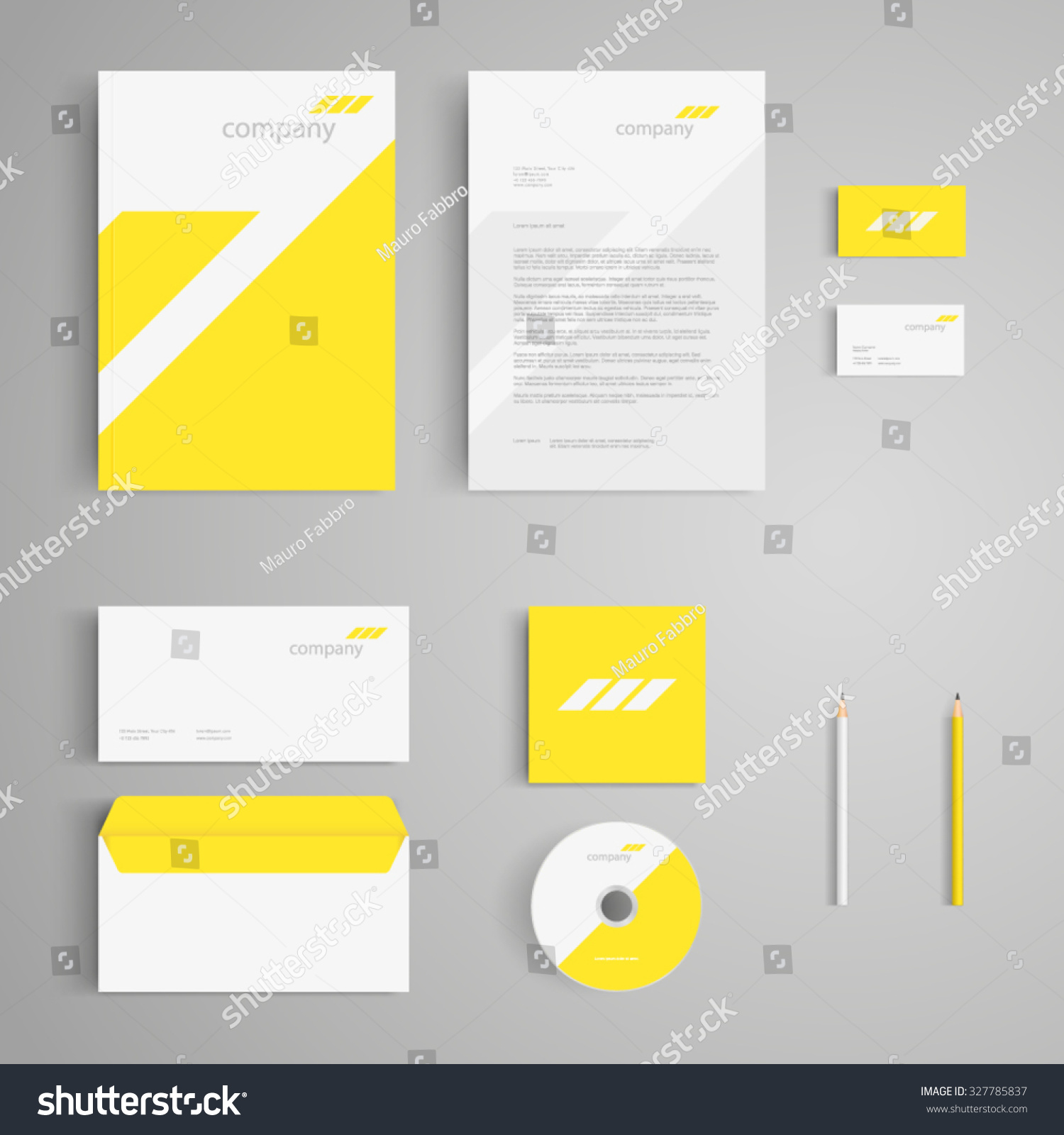 Clean Corporate Letterhead Template: Stationery Template Logo Corporate Identity Company Stock