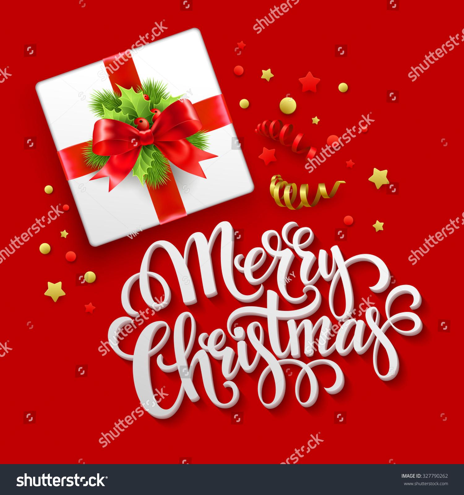 Merry christmas greeting card christmas gift stock vector merry christmas greeting card christmas gift box vector illustration eps 10 negle Image collections