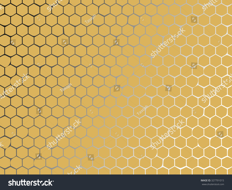 isolated yellow honey hexagon cells background stock illustration