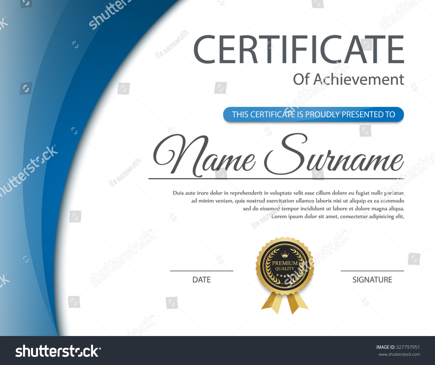 Royalty free certificate template vector 327797951 stock photo certificate template vector 327797951 xflitez Gallery