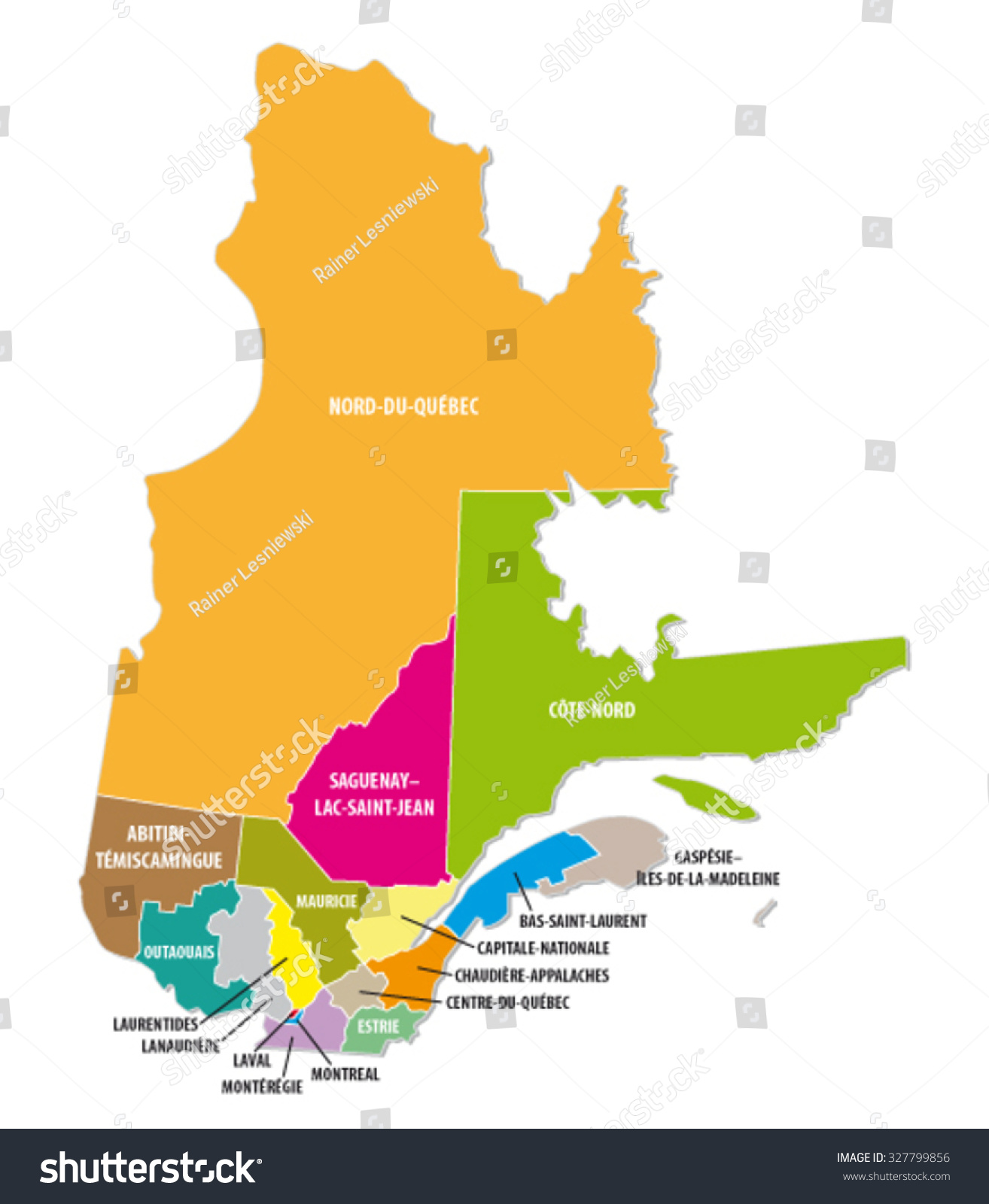 Quebec colorful administrative map vectores en stock 327799856 quebec colorful administrative map gumiabroncs Image collections