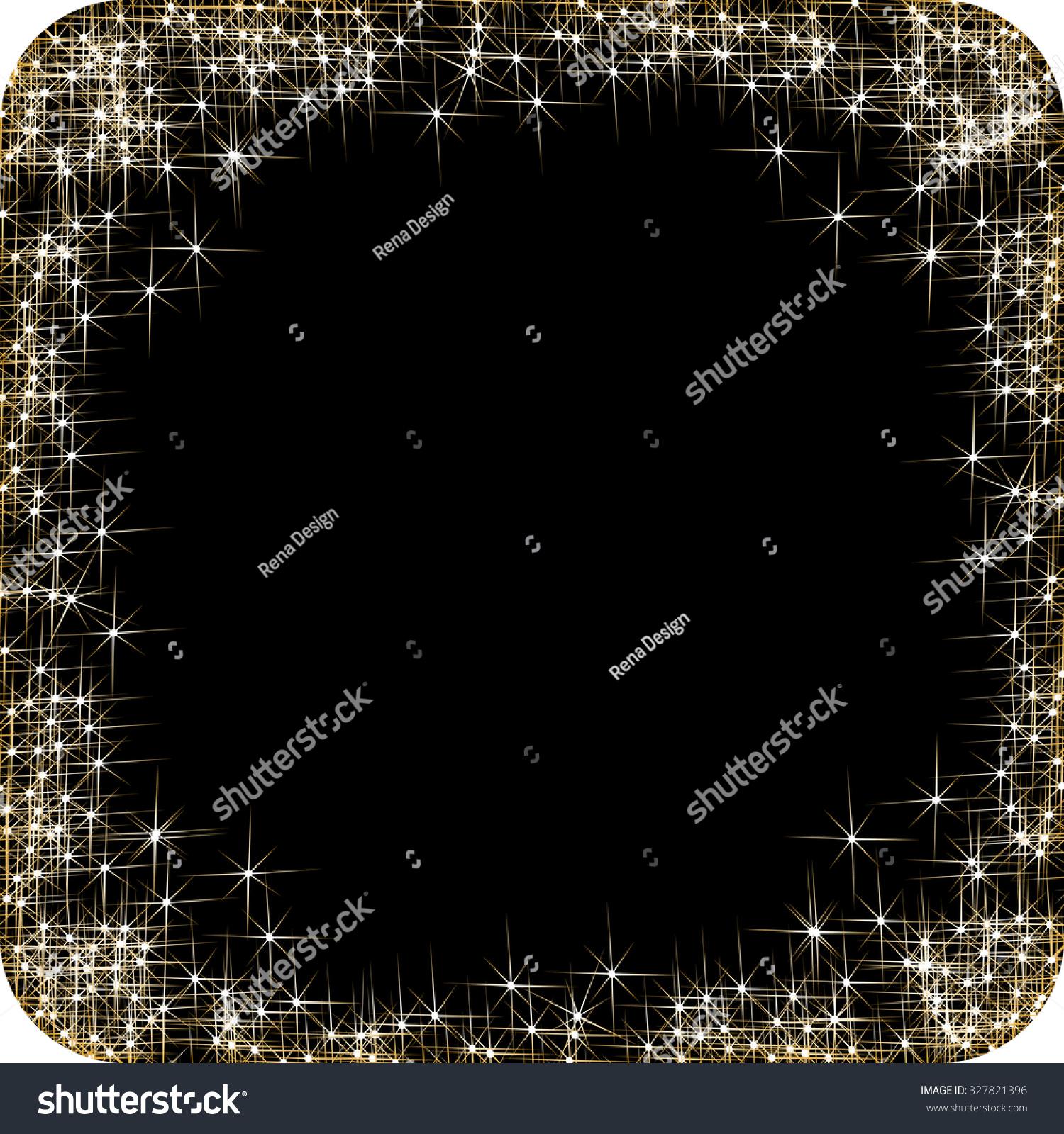 Vector Square Frame Golden Stars On Stock Vector Royalty Free