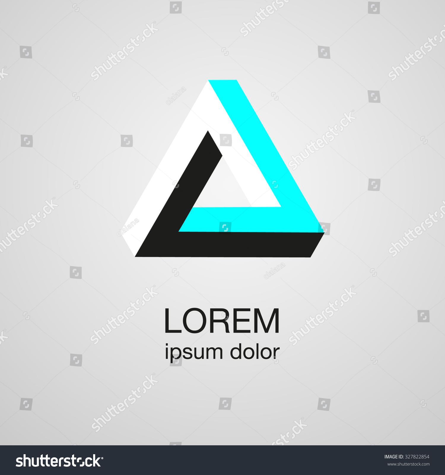 Optical Illusion Logo Template, Vector - 327822854 ...  Optical Illusion Logo