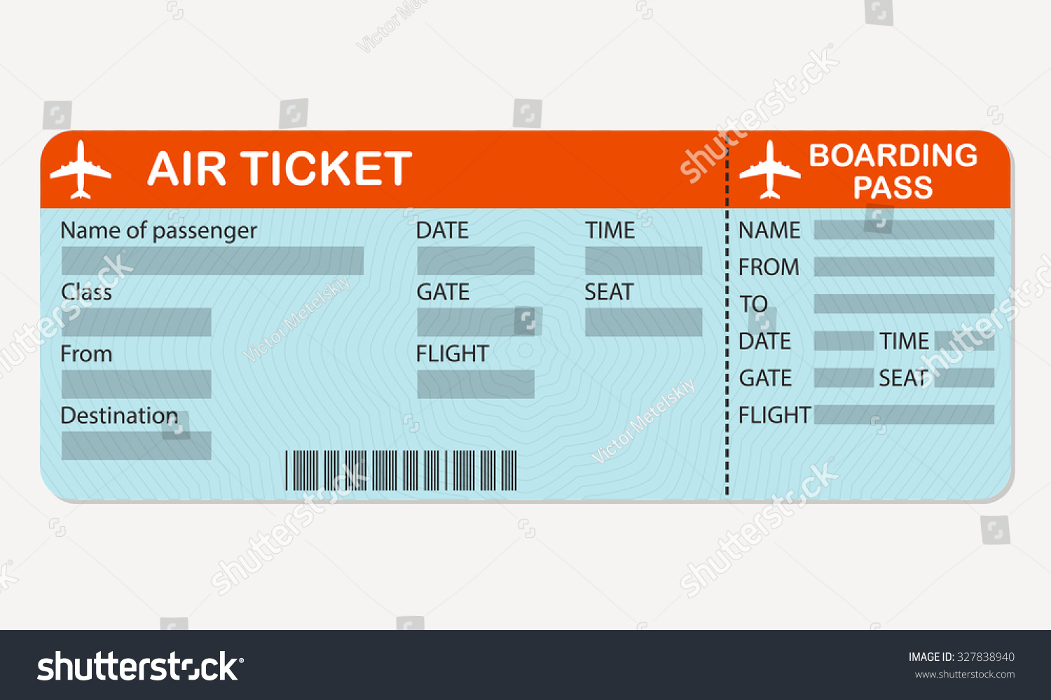 Blank Airline Ticket - FREE DOWNLOAD - Champlain College ...