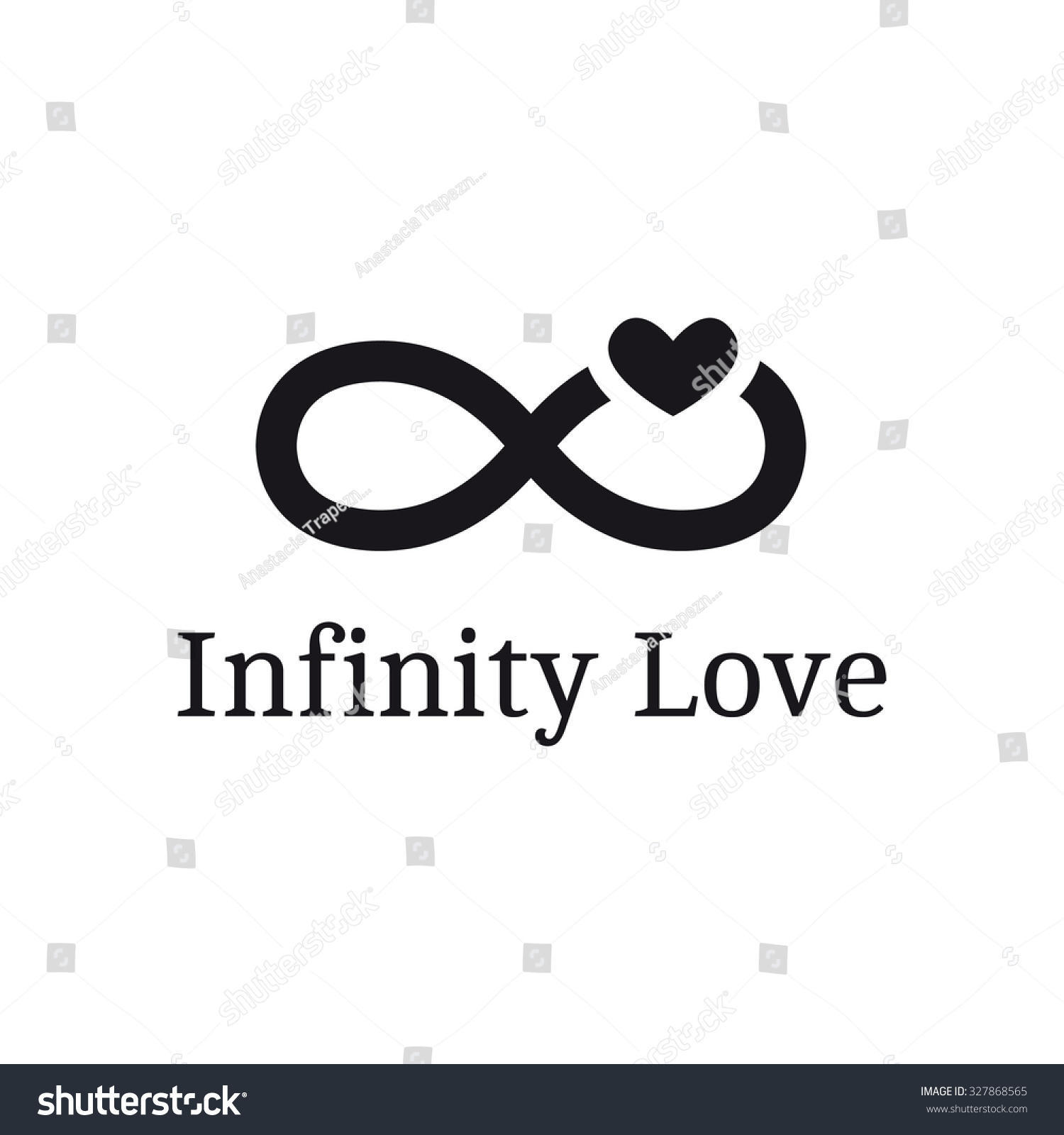 Vector infinity sign heart logotype modern stock vector 327868565 vector infinity sign with heart logotype modern romantic logo buycottarizona Gallery