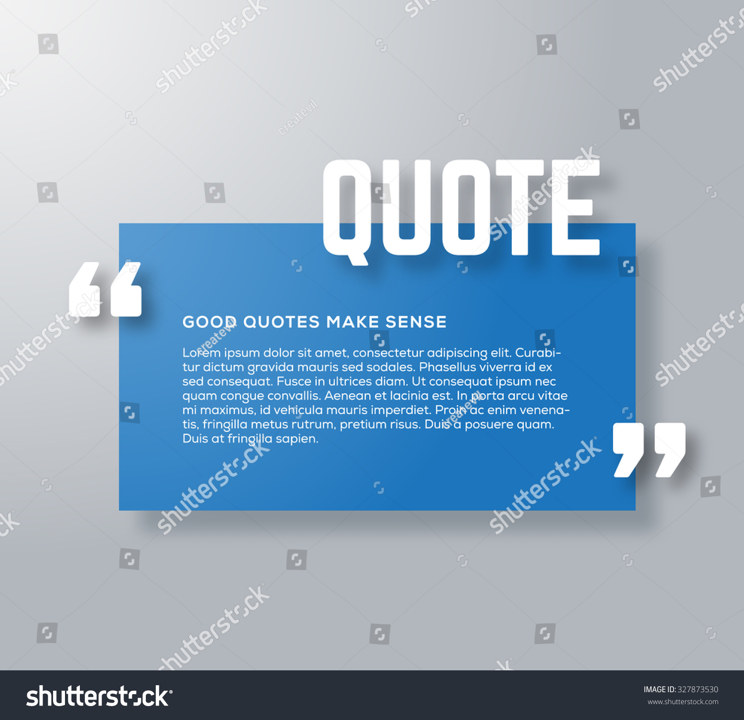 Rectangle Motivation Quote Template Vector Background Stock Vector ...