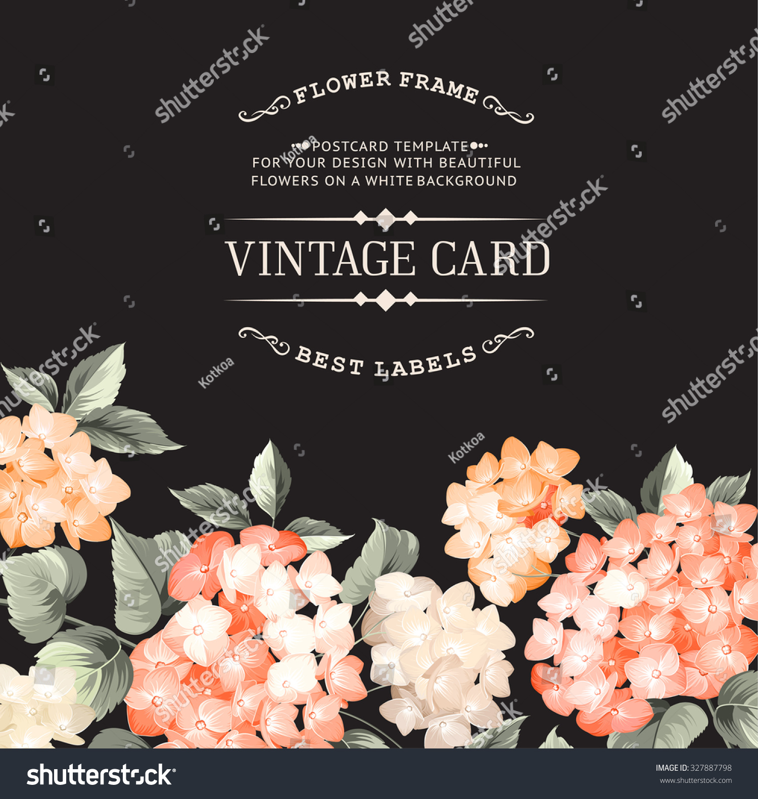 Wedding Altar Call: Vintage Card For Wedding Invitation… Stock Photo 327887798