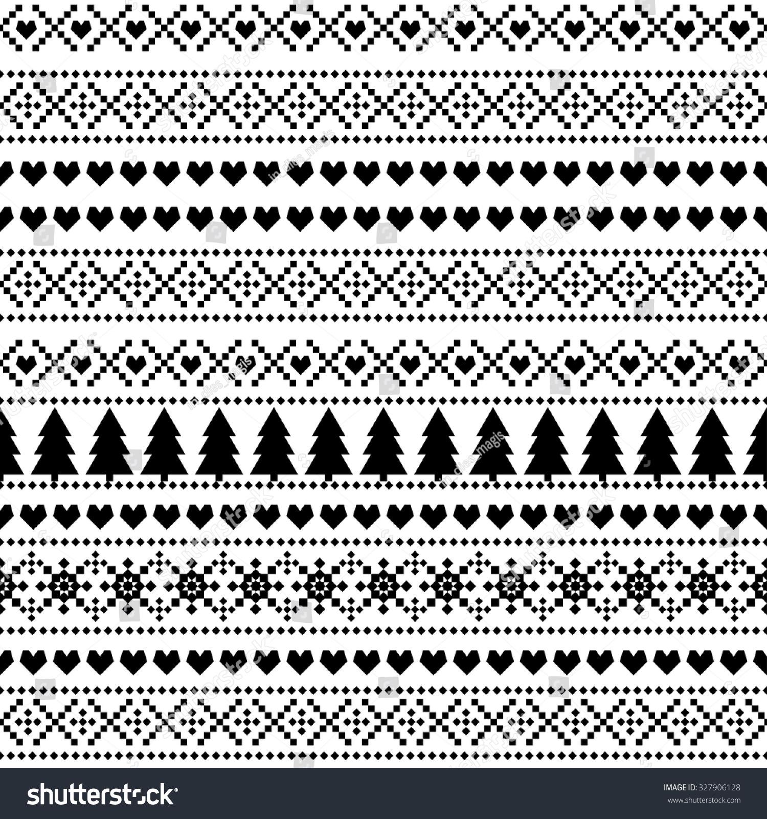 Seamless Christmas Pattern Card Scandinavian Sweater Stock Vector ...