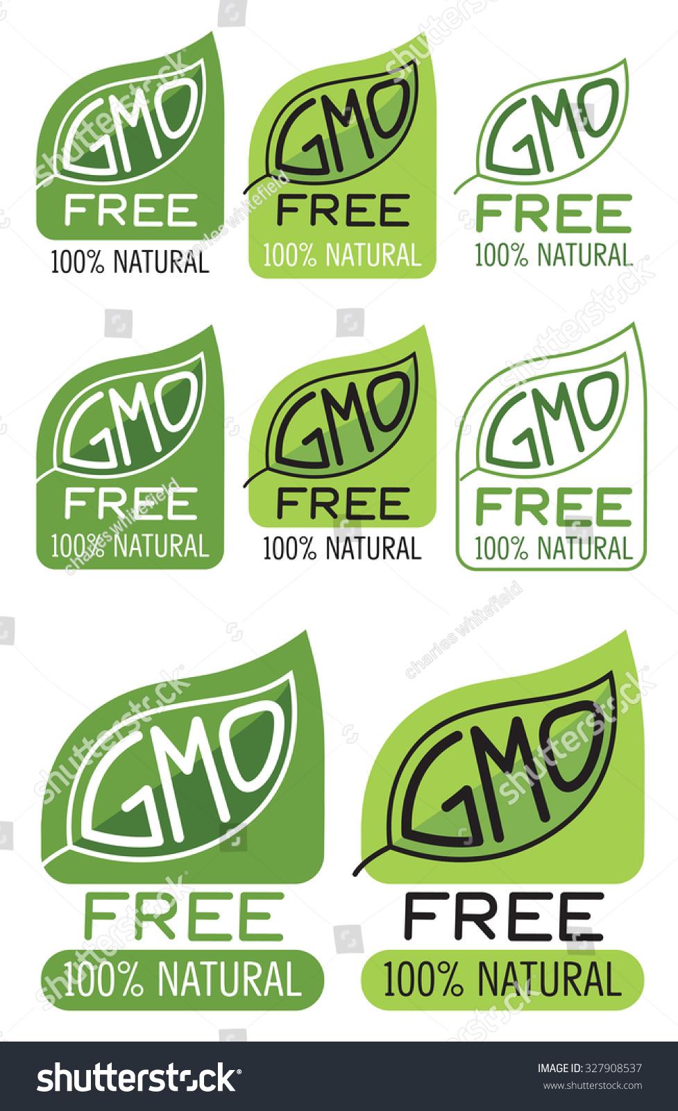 Gmo Free Label Gmo Free Symbol Stock Vector Royalty Free 327908537