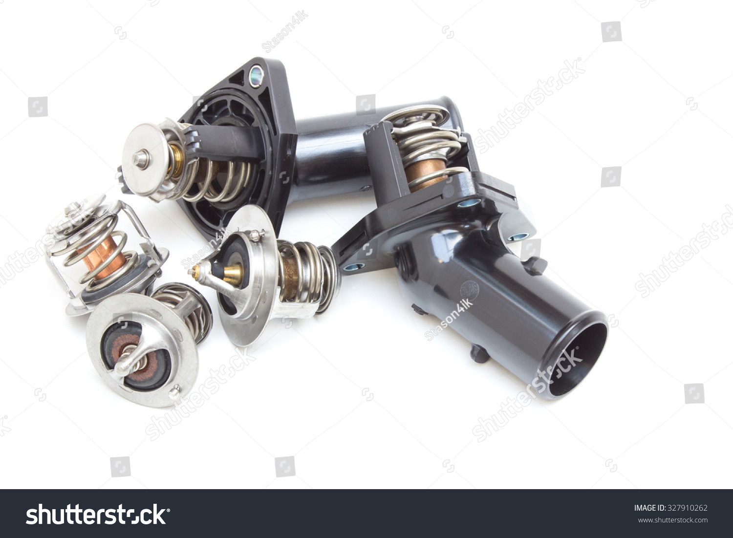 Royalty-free Parts of the car engine. Thermostat… #327910262 Stock ...