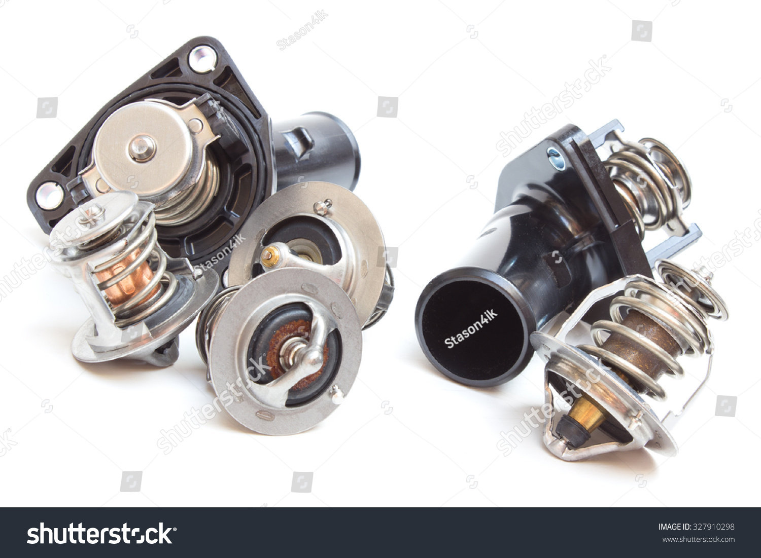 Parts Car Engine Thermostat Engine Cooling Stock Photo 327910298 ...
