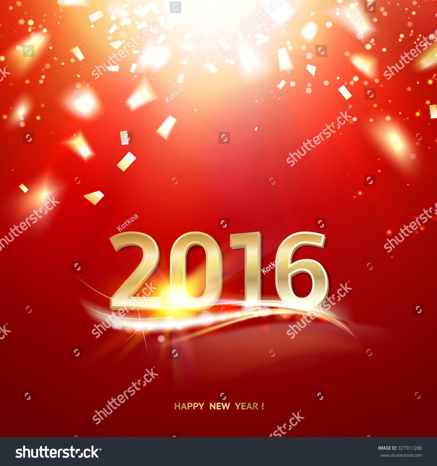 New Year Animations Free Stock Vector Happy New Year Card Gold Template
