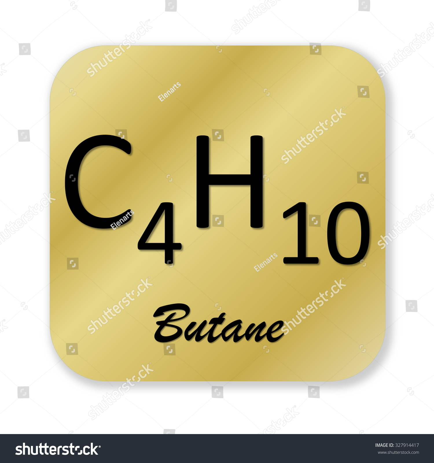 Royalty Free Stock Illustration Of Golden Chemical Formula Butane