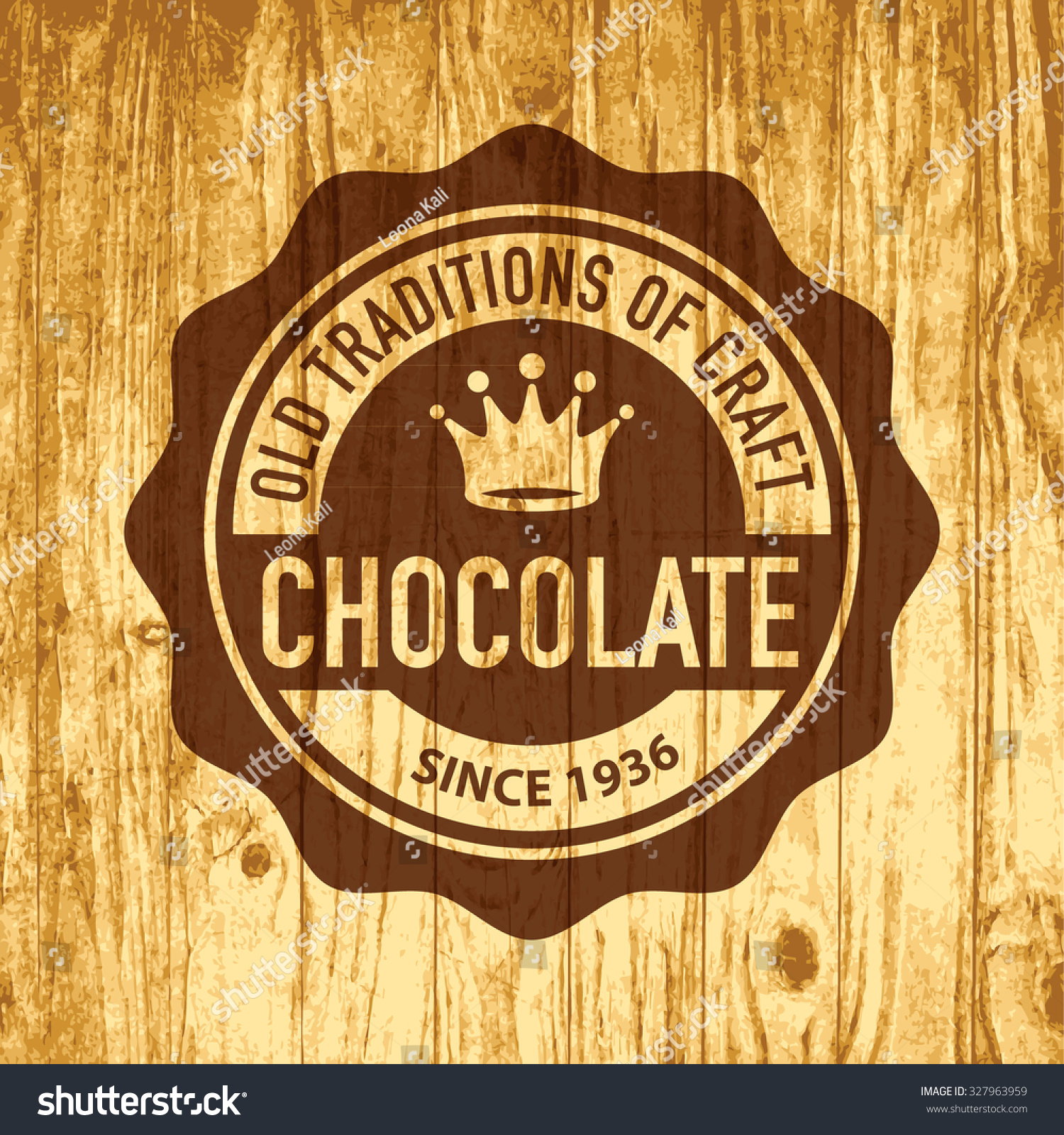 Vintage Premium Product Flat Badges Set:  Vintage Vector Logo Template Of Premium Craft Chocolate