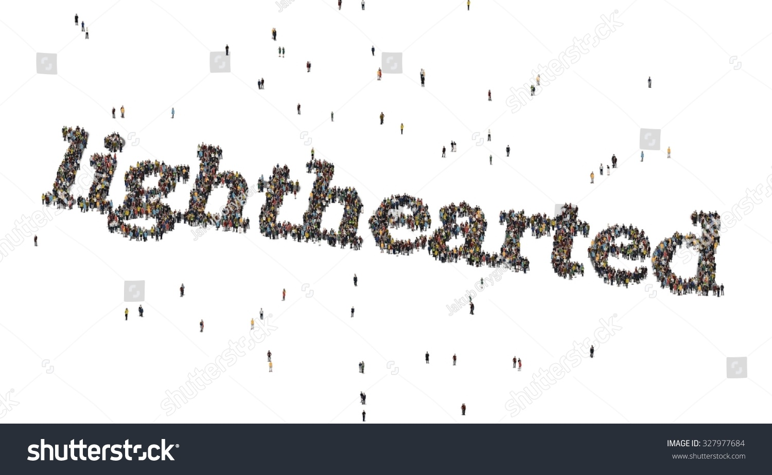 lighthearted word crowd above stock illustration 327977684