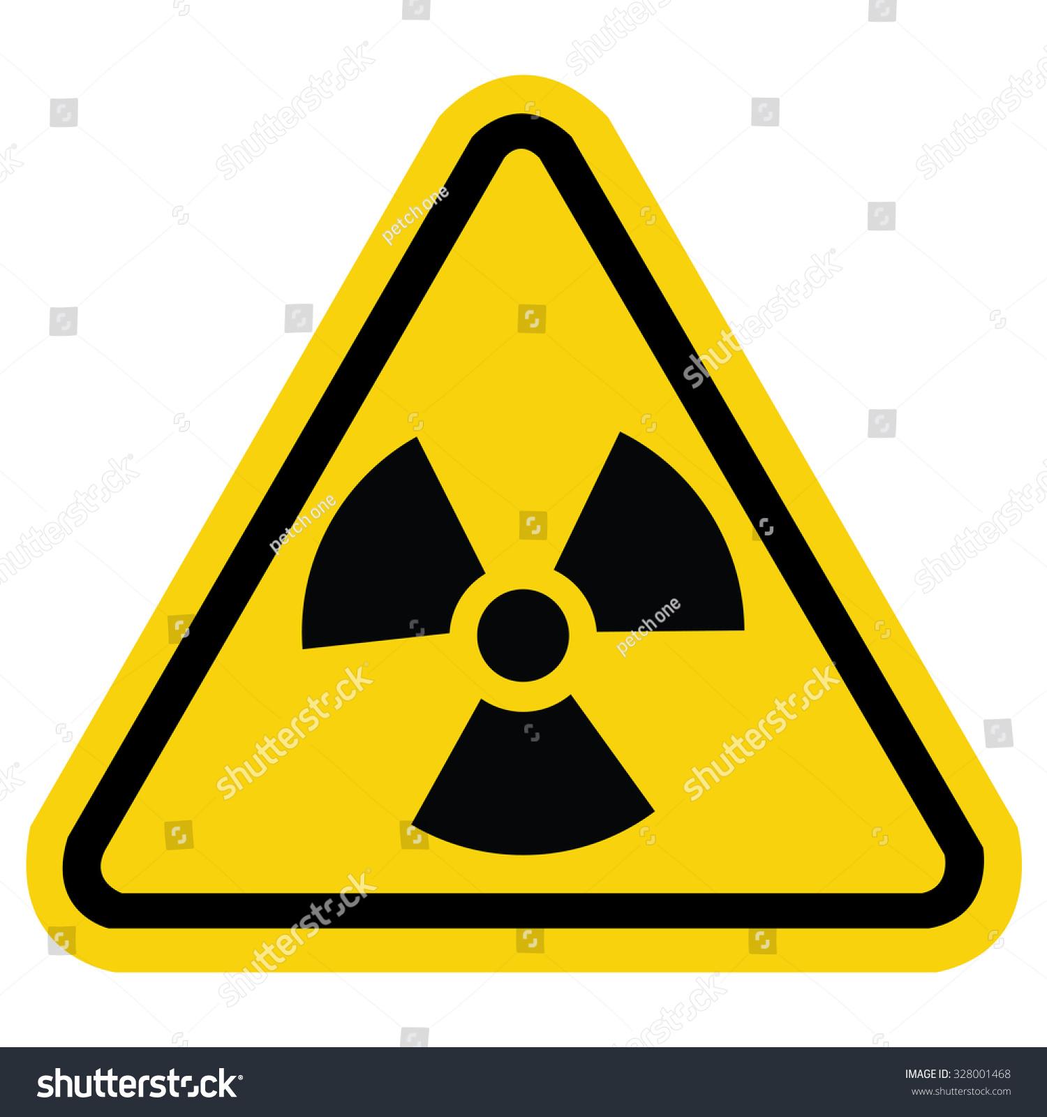 Radiation Hazard Sign Symbol Radioactive Threat Stock Vector