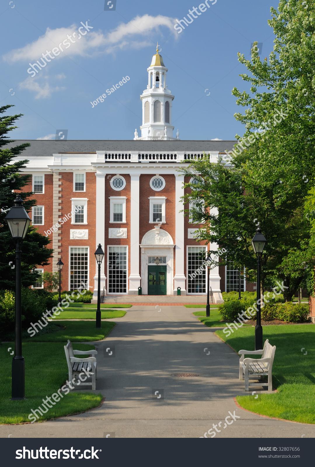 Harvard Business School Footpath Leading Entrance Stock ...
