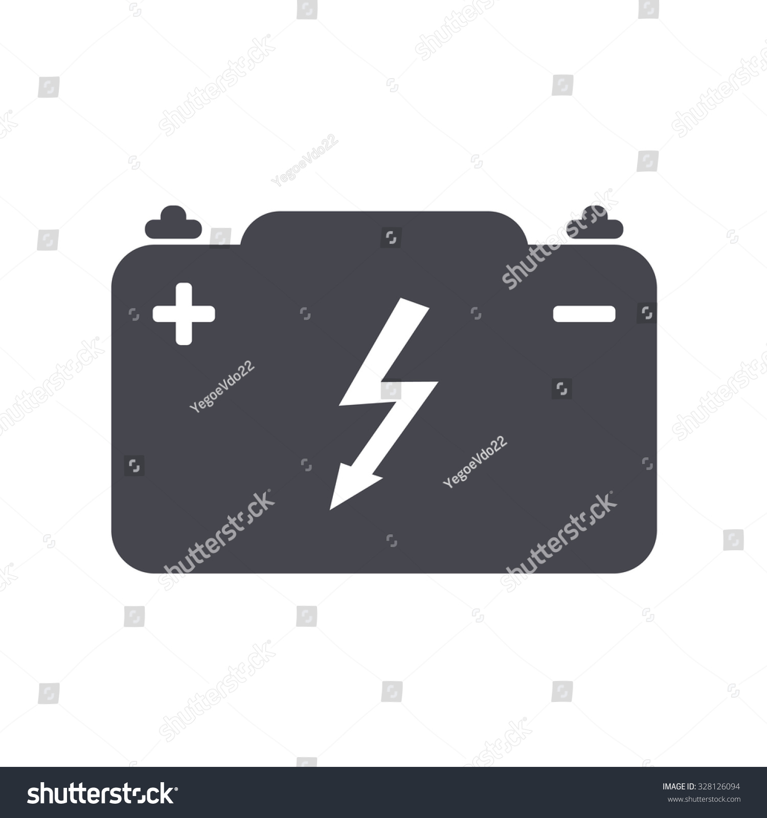 Car Battery Vector Icon Stock Vector 328126094 - Shutterstock for Car Battery Symbol  146hul
