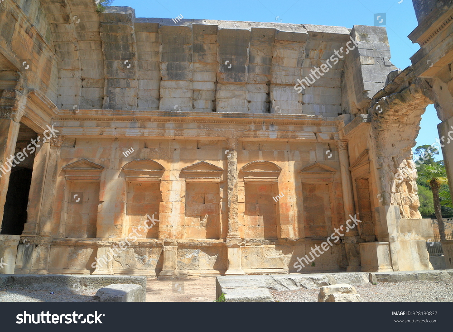 Ruined ceiling of the Temple of Diana inside the Fountain Gardens in ...