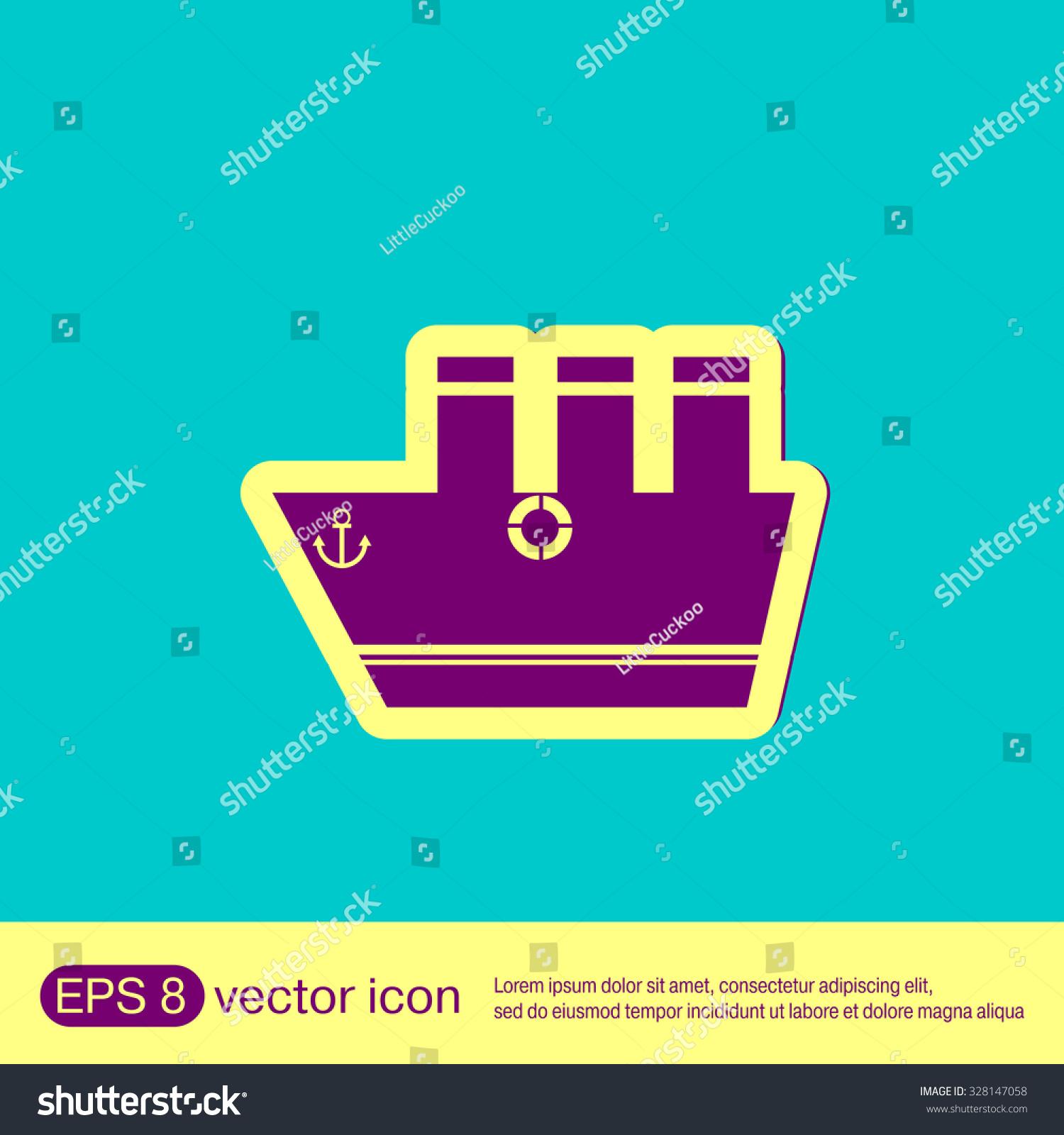 Sailing ship symbol icon boat steamer stock vector 328147058 sailing ship symbol icon boat steamer sailboat sign buycottarizona
