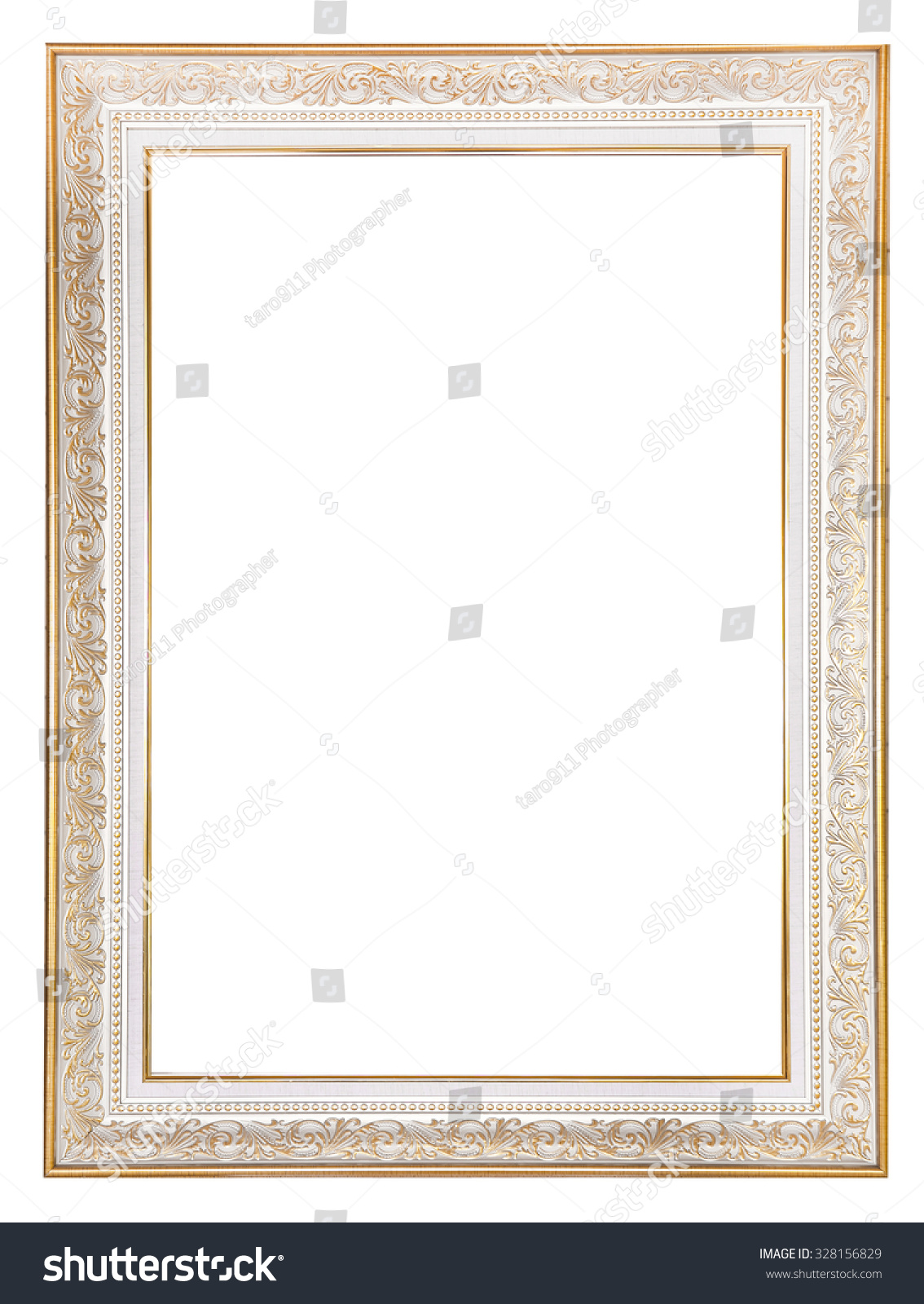 Vintage Silver Gold Frame Isolated On Stock Photo Edit Now