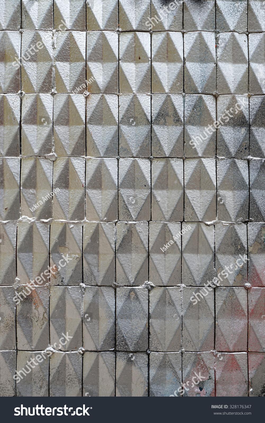 Dirty Old Facade Ceramic Triangular Tiles Stock Photo Edit Now