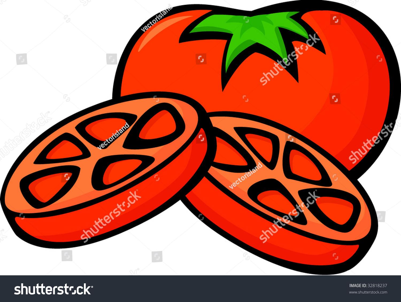 Tomato Slices Stock Vector Illustration 32818237 ...