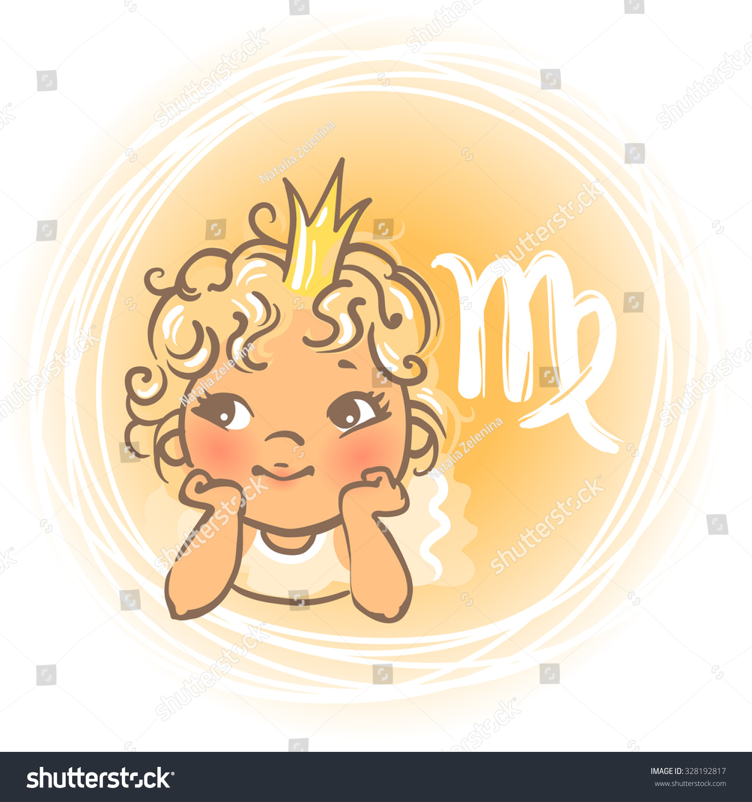 Childrens Horoscope Icon Kids Zodiac Cute Stock Vector Royalty Free