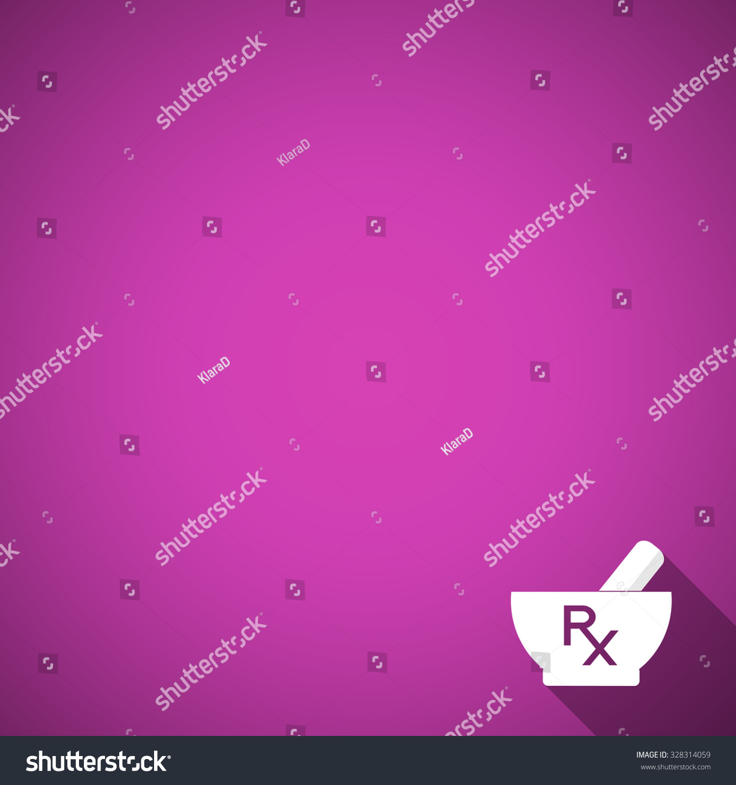 Pharmacy Background Mortar Pestle On Purple Stock Vector Royalty