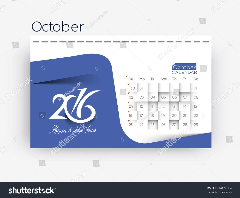 October Calendar Illustration : October calendar design stock vector illustration
