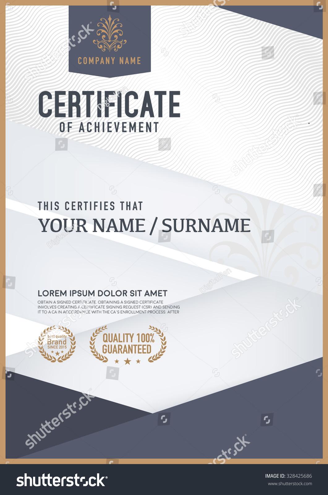 vector certificate template stock vector 328425686 vector certificate background vector certificate border
