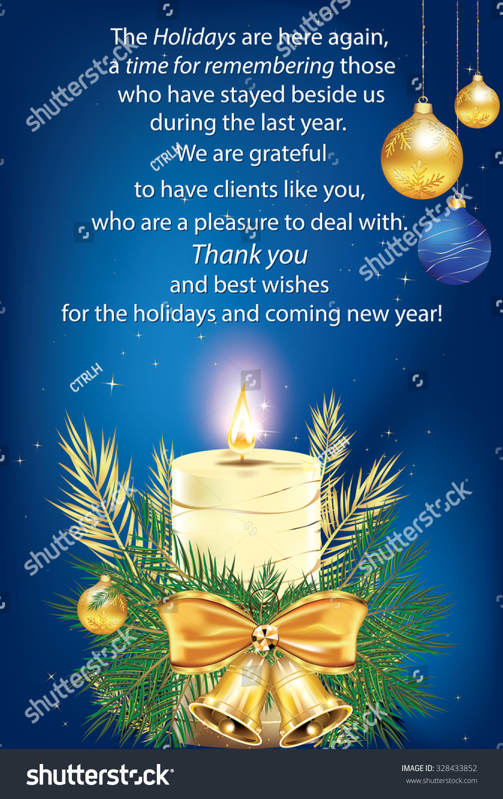 Thank you elegant business greeting card stock vector royalty free thank you elegant business greeting card for christmas for companies that want to thank their colourmoves