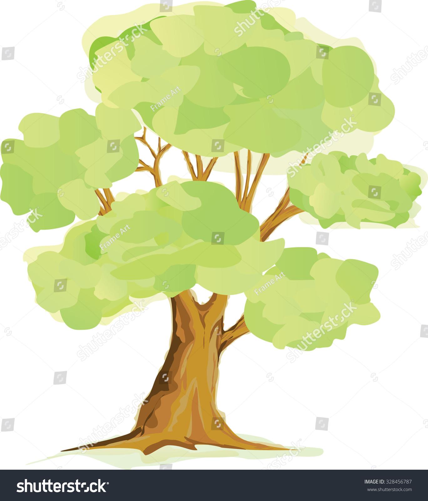 Tree Tree Paint Photo Drawing Art Stock Vector 328456787 - Shutterstock