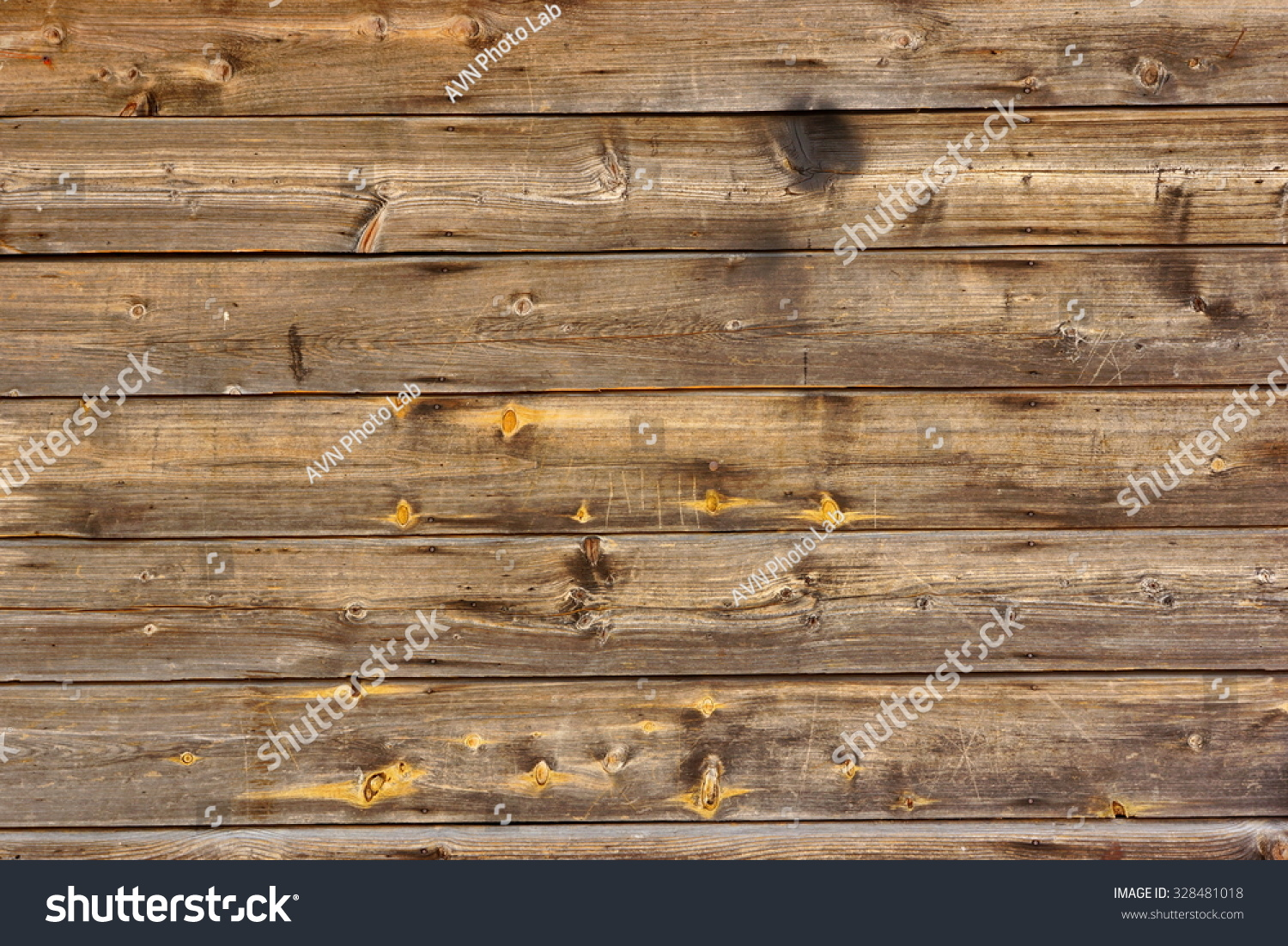 Old Scratched Brown Empty Wood Panel Horizontal Texture Background Close-up - Old Scratched Brown Empty Wood Panel Stock Photo 328481018