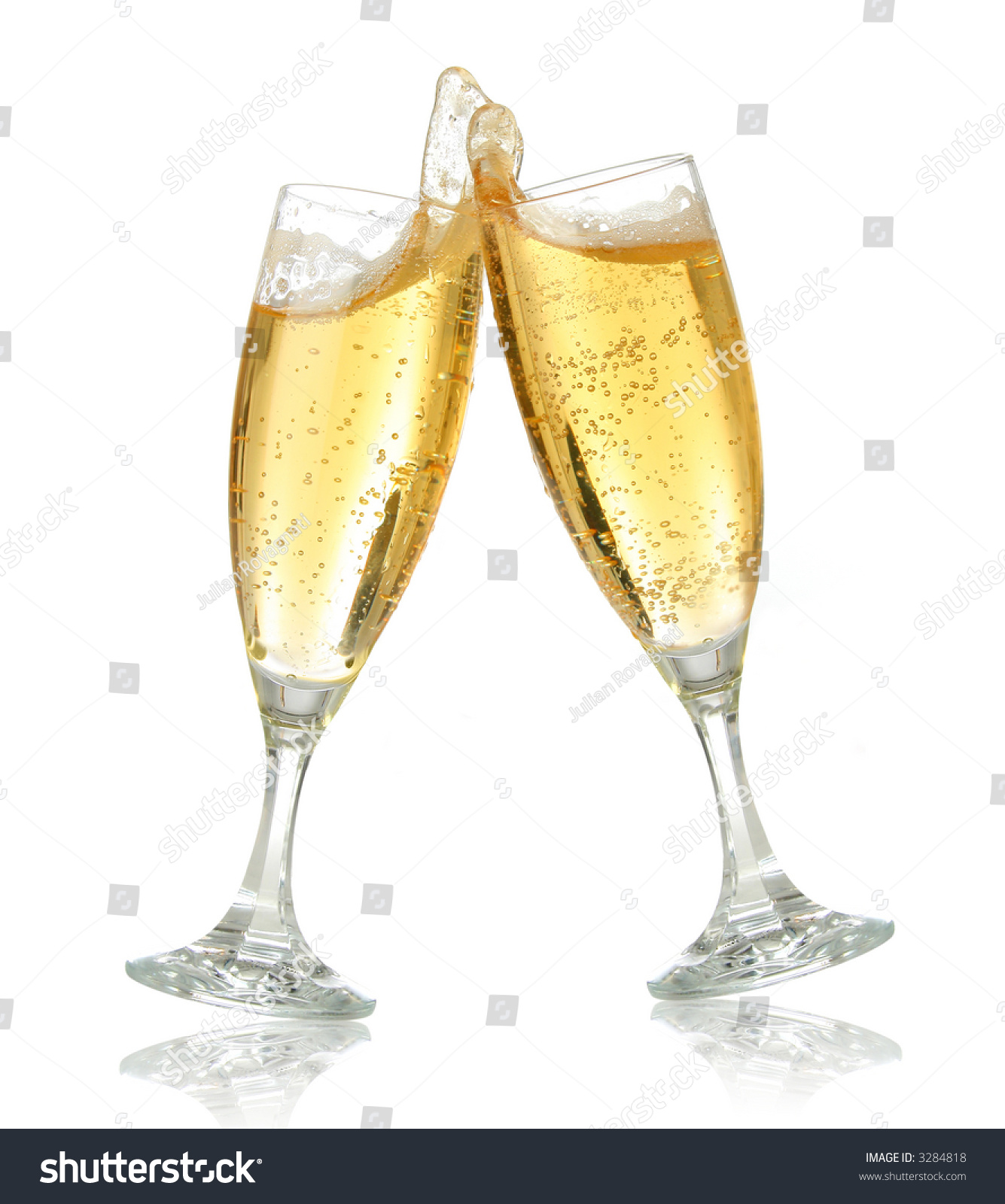 pair champagne flutes making toast champagne stock photo edit now
