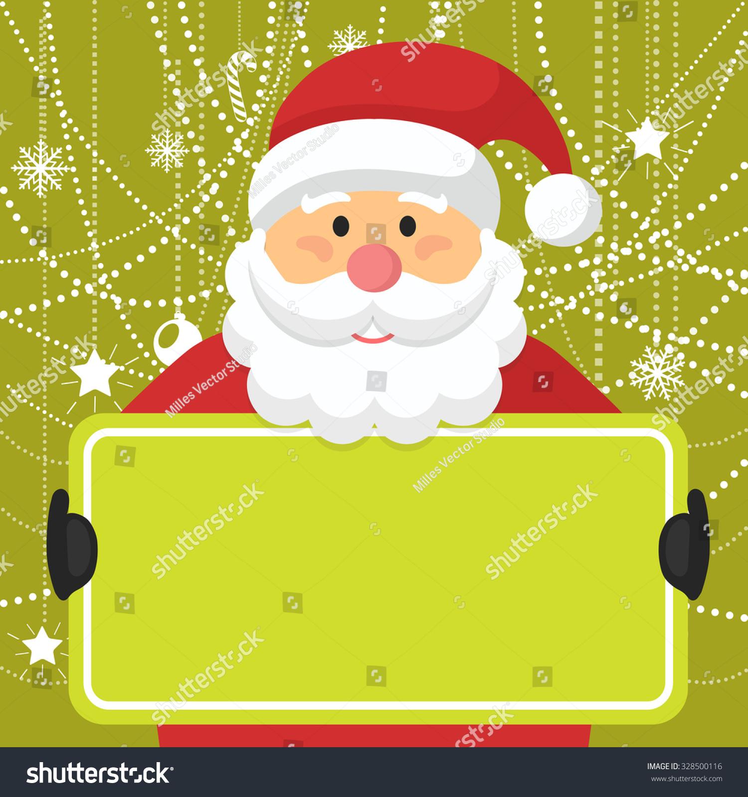 Santa Claus Greeting Card Copyspace Vector Stock Vector (Royalty ...
