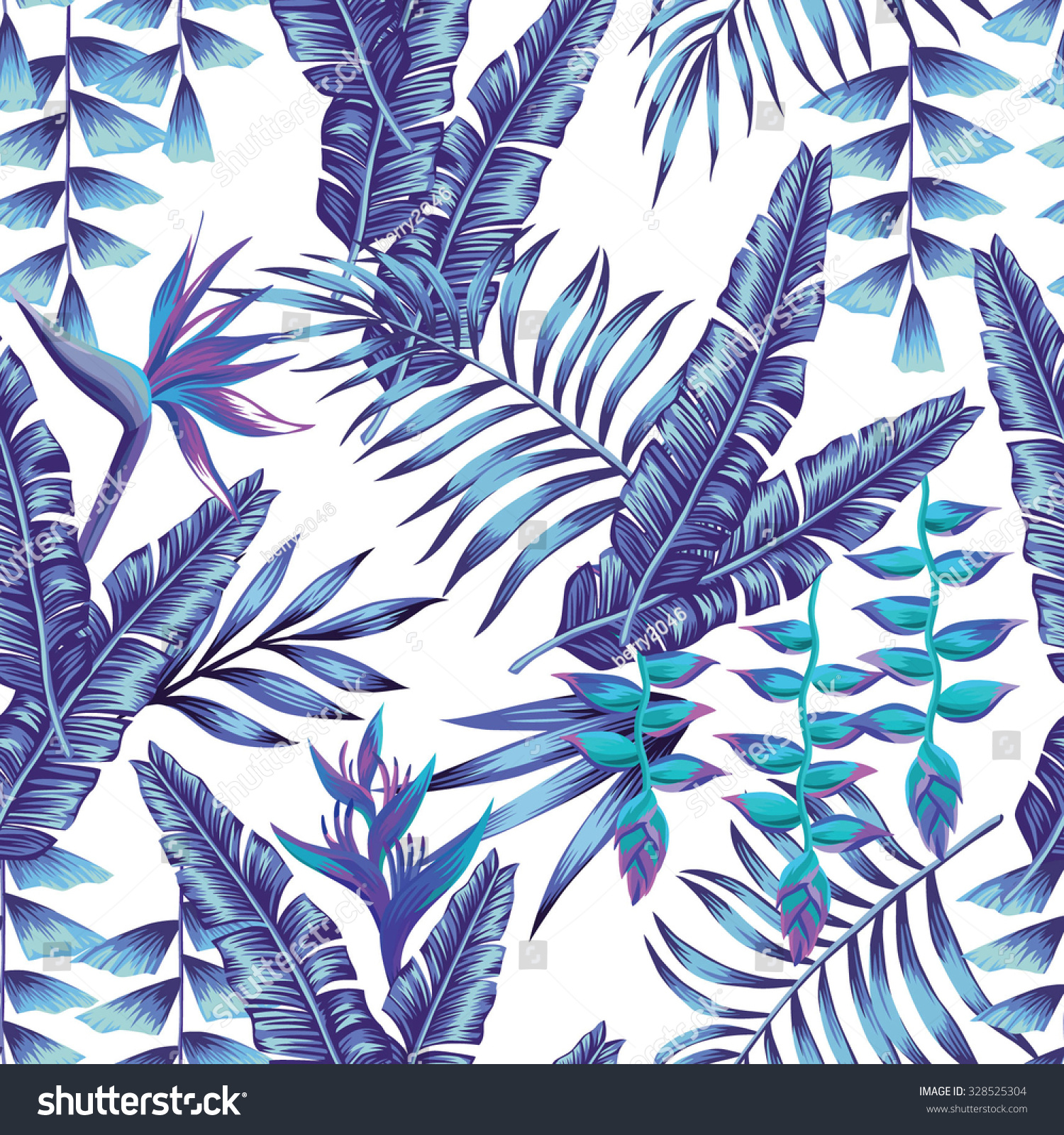 Fresh Tropical Flower Seamless Pattern Print Wallpaper Stock Vector HD  JB91