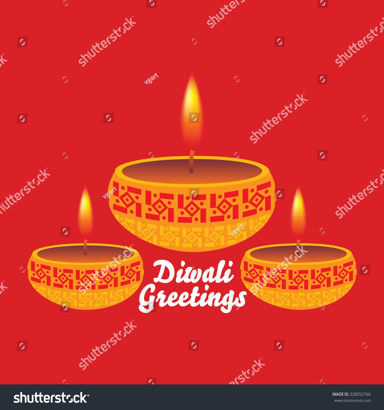Creative Diwali Greetings Concept Vector Illustration Ez Canvas
