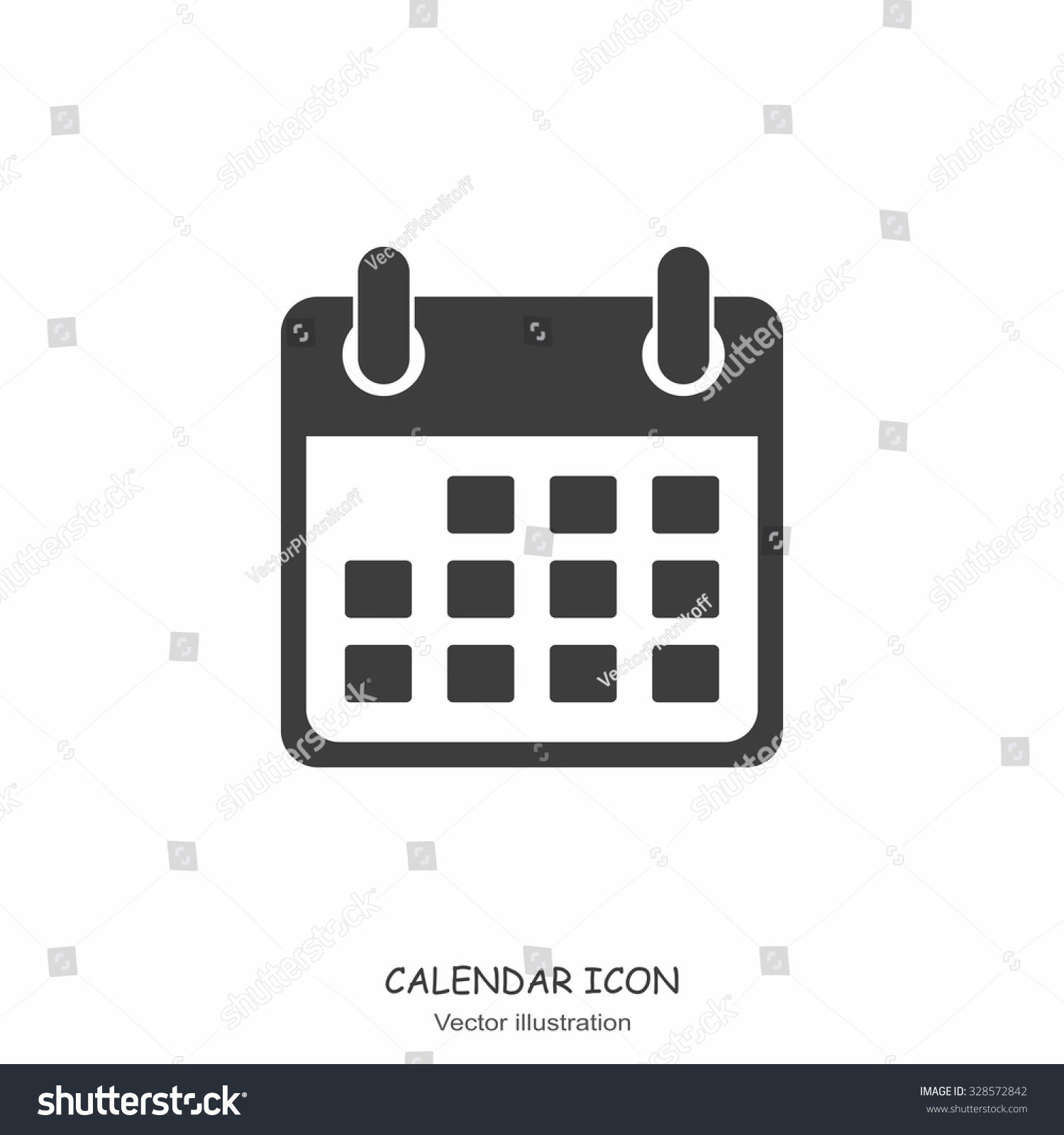 Calendar Flat Illustration : Calendar icon flat design style vector stock