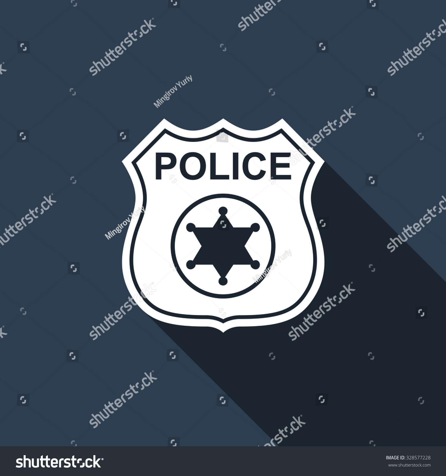 royalty free police badge flat icon with long shadow u2026 328577228