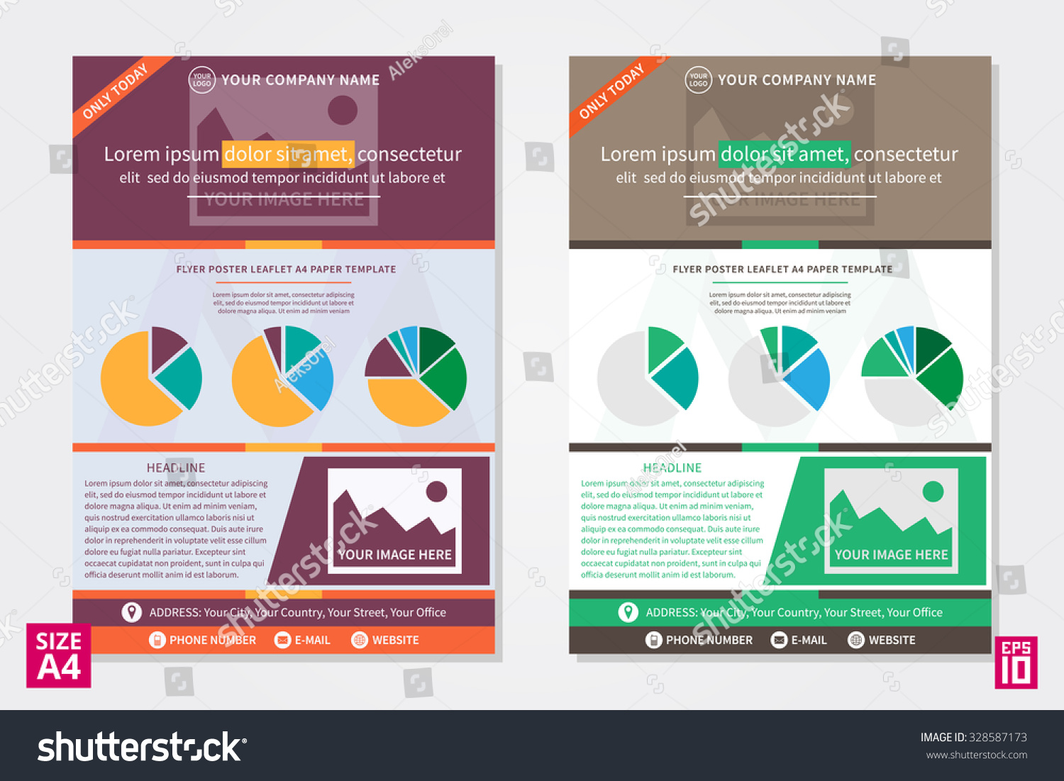 vector ad leaflet design concept creative stock vector  vector ad leaflet design concept creative colorful layout a4 page graph charts template