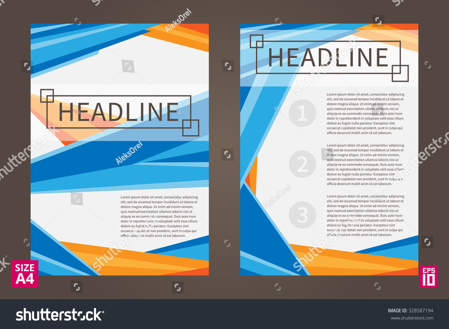 Poster design sample - Vector Flyer Poster Leaflet Annual Report Design Template With Sample Text Leaflet